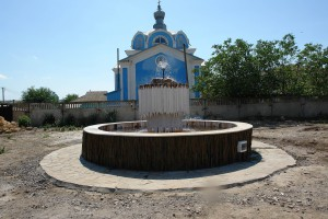 фонтан и натурального мрамора