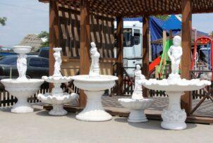 Concrete garden fountains